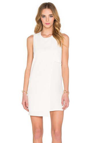 dress shift dress asymmetrical cream