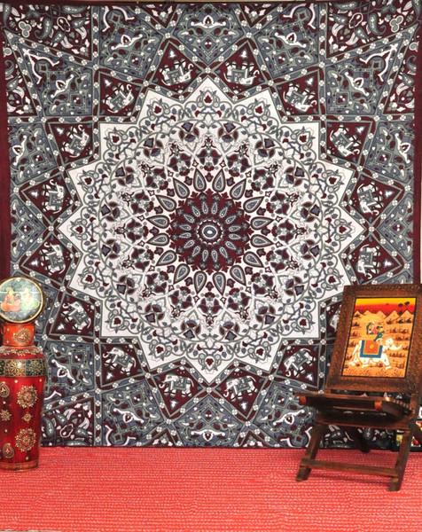 Indian Tapestry Wall Hanging mandala tapestries, hippie tapestries, tapestry wall hanging, star