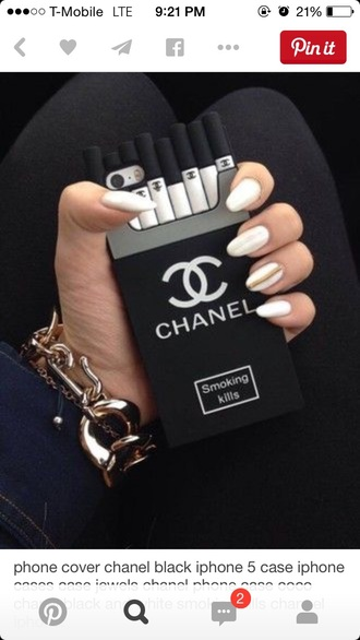 phone cover chanel black cigarettes