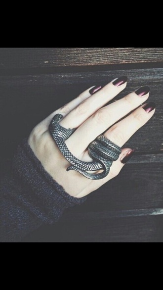 jewels grunge dark snake snake ring ring silver cool grunge jewelry grunge wishlist hardcore