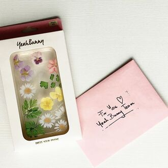 phone cover iphone cute flowers pastel clear case for iphone dry flowers