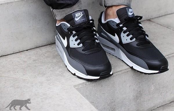 Nike Air Max 90 Essential Black On Feet