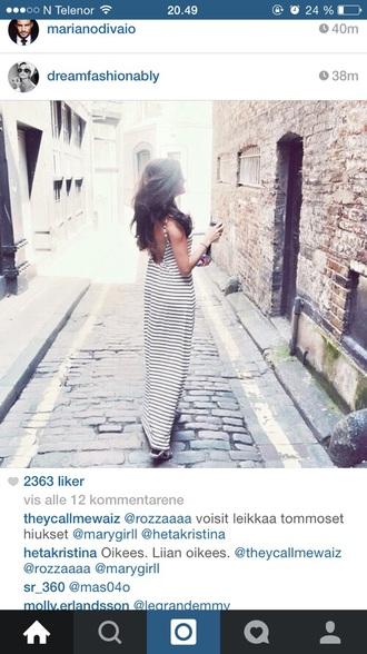 dress striped dress long dress white dress need helpmefindthis thanks