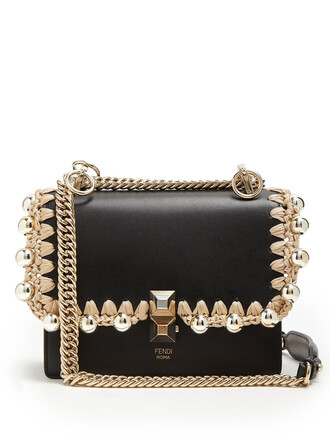 cross bag leather gold black