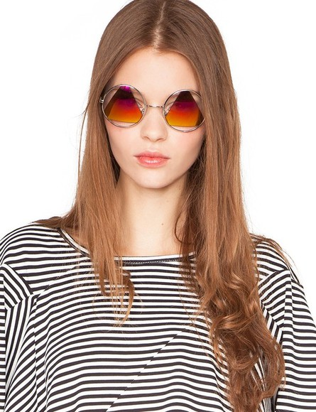 sunglasses retro cut-out colorful triangle