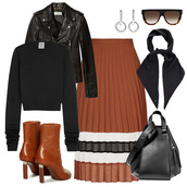 oracle fox,blogger,jacket,jewels,sunglasses,scarf,bag,shoes,sweater,skirt