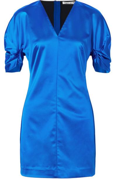 Elizabeth and James dress mini dress mini blue satin bright