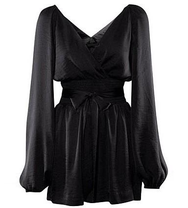 Neck Long Sleeve Jumpsuit @ Womens Short Shorts & Rompers:women's ...