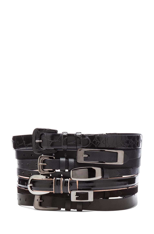Maison Martin Margiela|Multi Leather Belt in Black