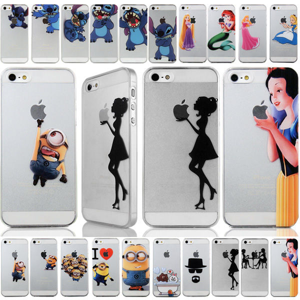 Cute cartoon pc pattern hard back case cover skin for iphone 4 4s 5g 6 6 plus