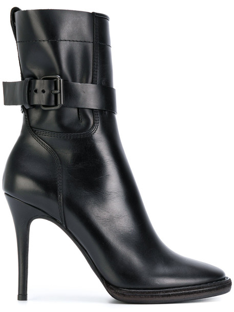Haider Ackermann heel high heel high women ankle boots leather black shoes