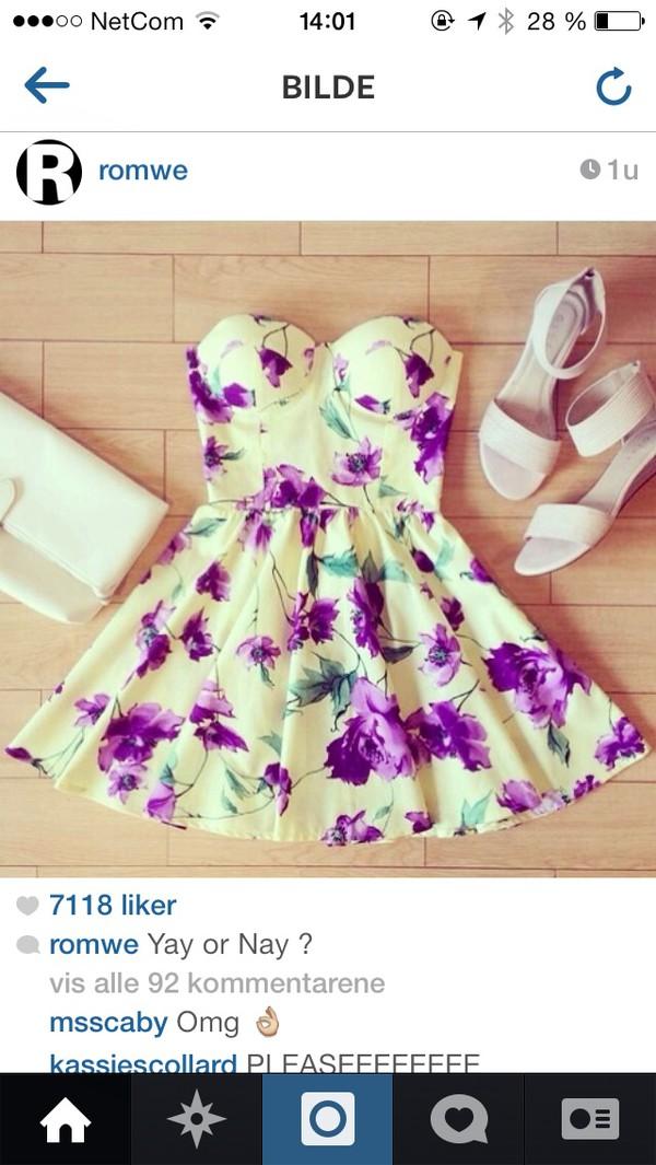 dress purple white beautiful