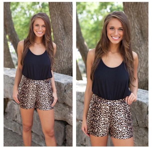 919047b74427 romper leopard print cheetah romper black black romper