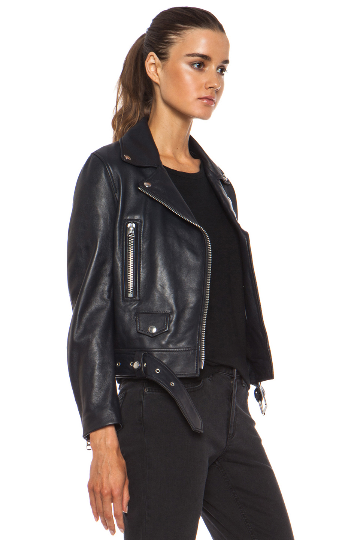 Acne Studios | Mock Leather Jacket in Steel Grey