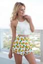 Pineapple Fringe Shorts