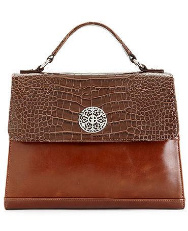 Giani Bernini Glazed Filigree Leather Satchel - Handbags & Accessories - Macy's