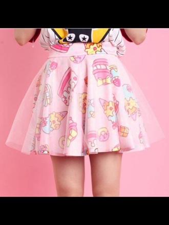 skirt pink skirt sugoi cupcake