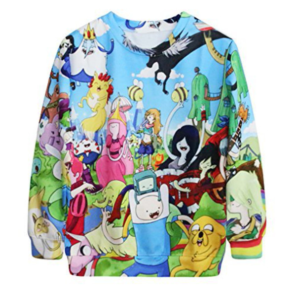 Sweater Adventure Time Sweater Finn The Human Jake The