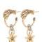 Swarovski earrings with star pendant
