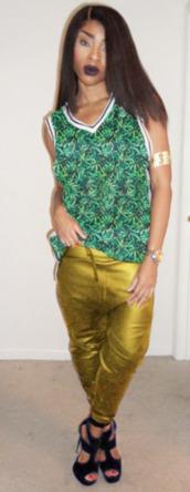 pants,gold