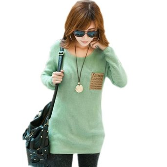 Amazon.com: Sweater Jumper Long Sleeve Crew Neck Pullover Outwear Tops (Green): Clothing