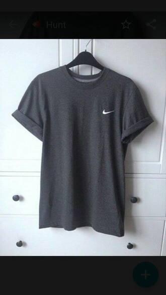 t-shirt top nike grey tee grey t-shirt grey workout running fashion bag
