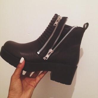 shoes bottes noires boots