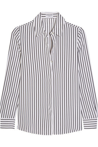 shirt classic white silk top