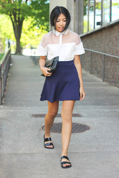 t-shirt skirt shoes bag fashion of a novice