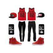 shoes,black,real82,red jordans,shirt
