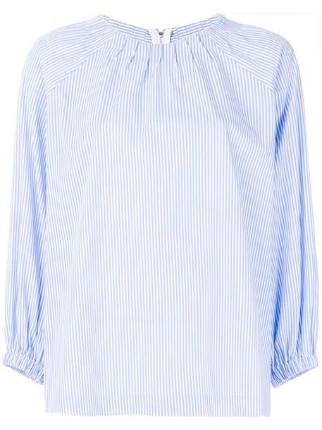 VIVETTA blouse women cotton blue top