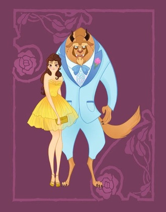 disney belle beauty and the beast dress yellow