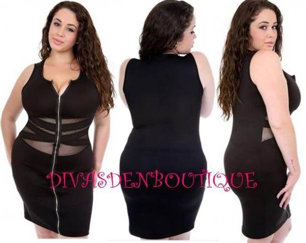 Black Dress Mesh Front Black Dress Mesh Front