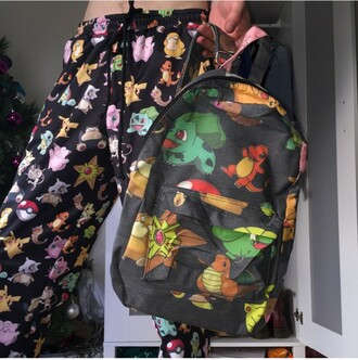 pants pokemon bag hipster