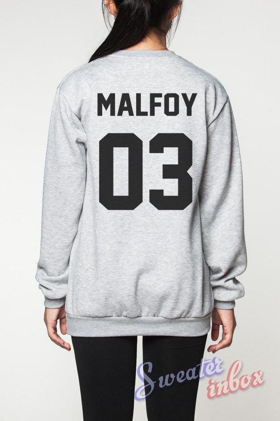 Draco malfoy harry potter sweatshirt deathly hallows movie shirts sweater women tee t