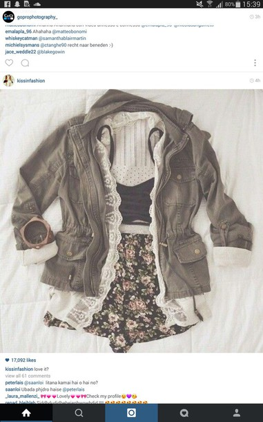shorts this outfit lace blouse