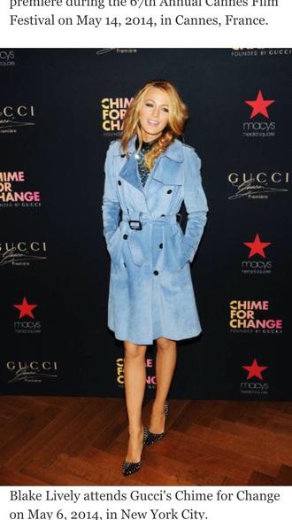coat blake lively velvet coat blue coat