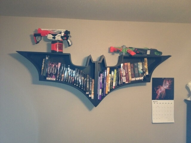 Hand Crafted Batman Wall Bookshelf by Jay's Custom Woodwork | CustomMade.com