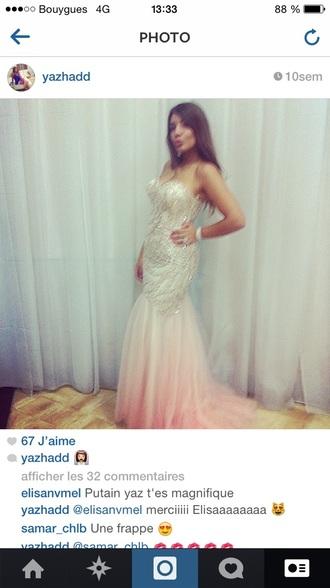 prom dress wedding dress mermaid dress mermaid prom dresses pink dress night dress mermaids