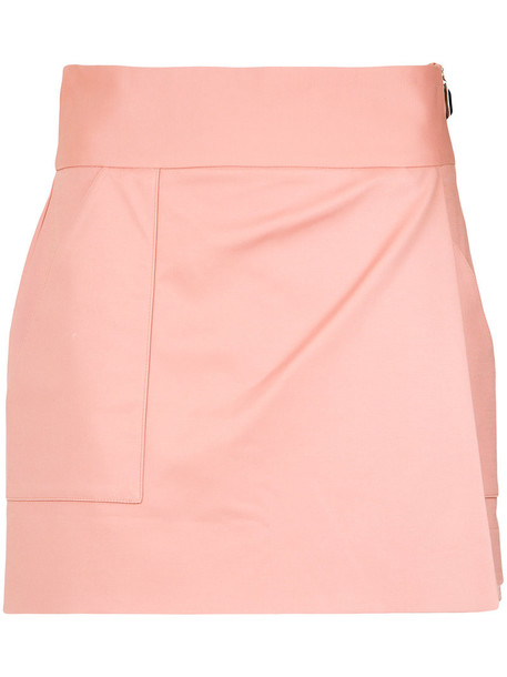 Giuliana Romanno skirt women spandex cotton purple pink