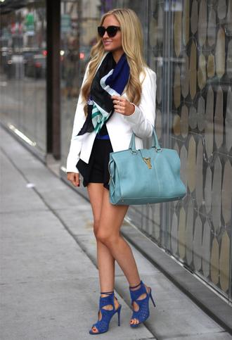 angel food jacket shorts shoes scarf sunglasses bag