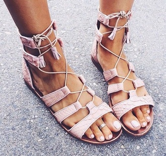 shoes anycolor tassel flat sandals