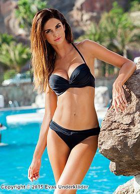 svart push up bikini