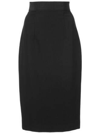 skirt pencil skirt women classic spandex black