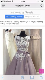 dress,mauve lilac lace prom dress.