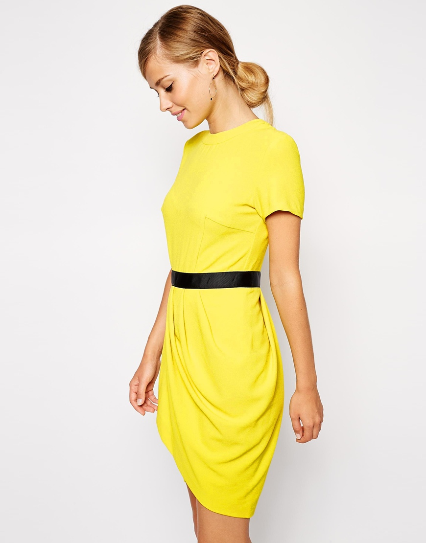 ASOS Tulip Dress in Crepe at asos.com