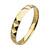 Gold Tone Pyramid Stud Stainless Steel Bangle Bracelet at FreshTrends.com