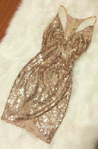 dress gold sequins short spaghetti strap wrap dress