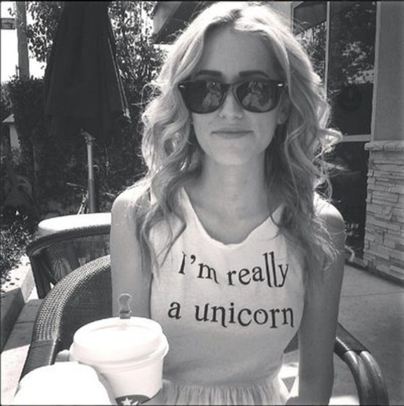 unicorn cute tank top