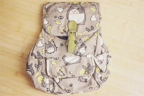 bag anime totoro kawaii backpack cute